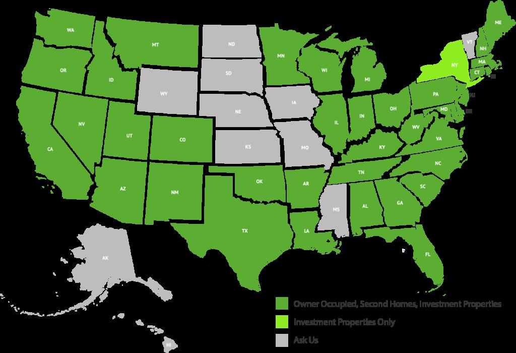 LendSure Liccensing Map
