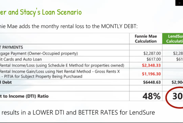 Rental Income Calculation for better DTI