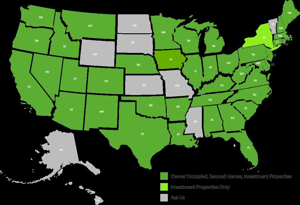 LendSure Licensing Map