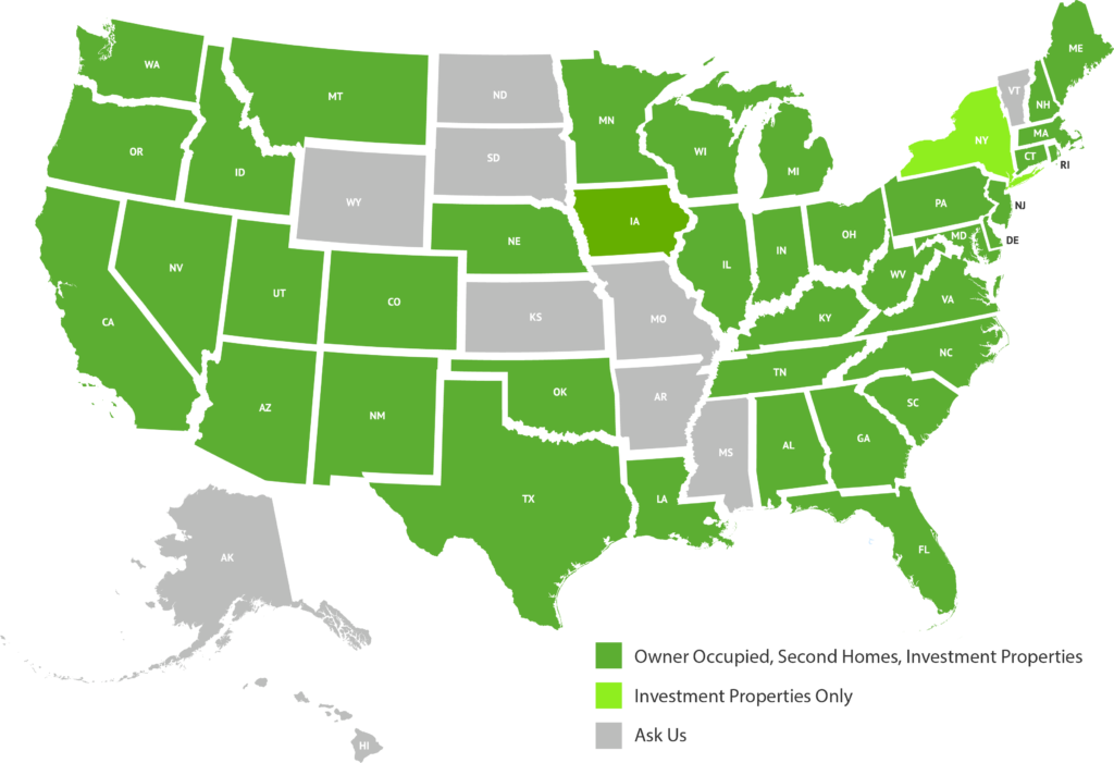 LendSure Mortgage Licensing Map